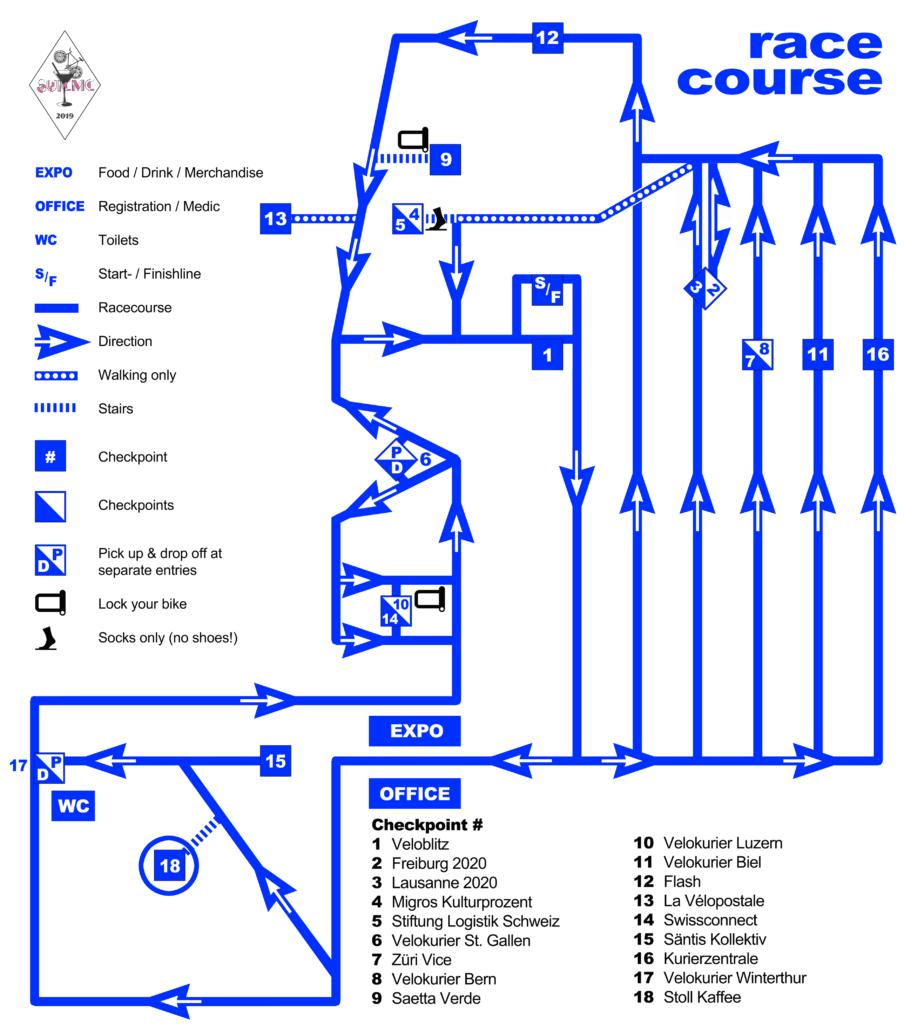 SUICMC19 Race Map